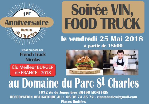Soirée vin, food truck au Domaine du Parc Saint-Charles