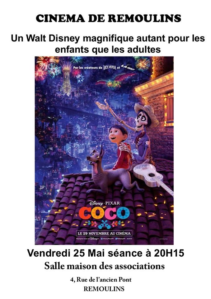 Cinéma : Coco de Walt Disney à Remoulins
