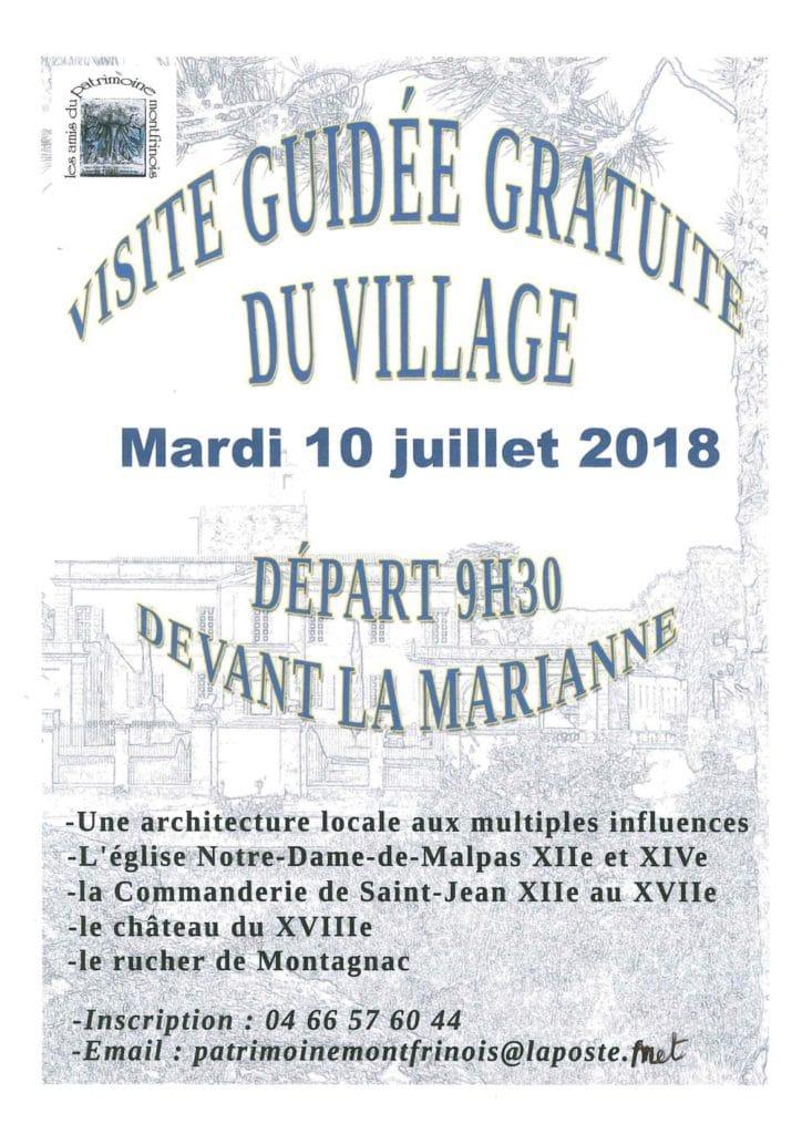 Visite guidée du village de Montfrin
