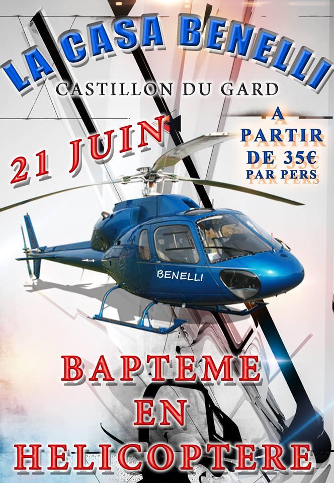 Baptême de l'air en hélicoptère à la Casa Benelli