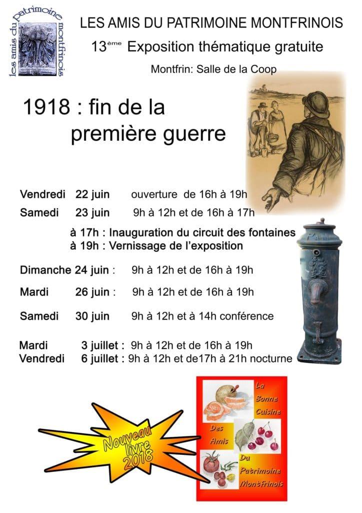 Exposition 1918 : fin de la Première Guerre