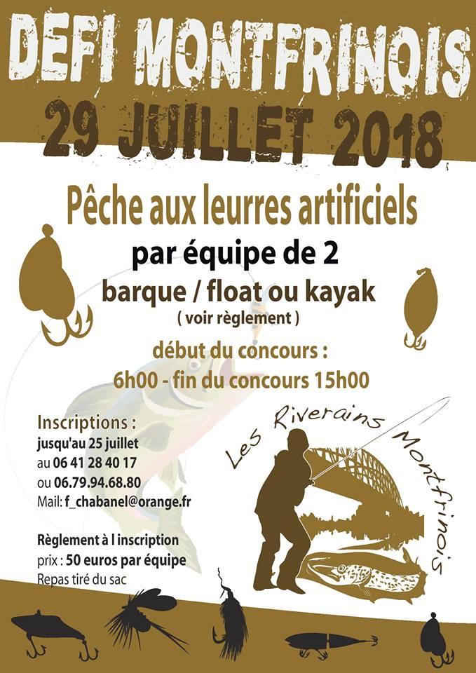 Concours de pêche Défi Montfrinois