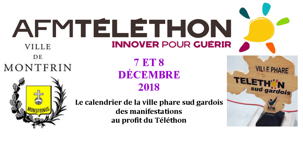 Fil Rouge - Week end Téléthon 2018 à Montfrin