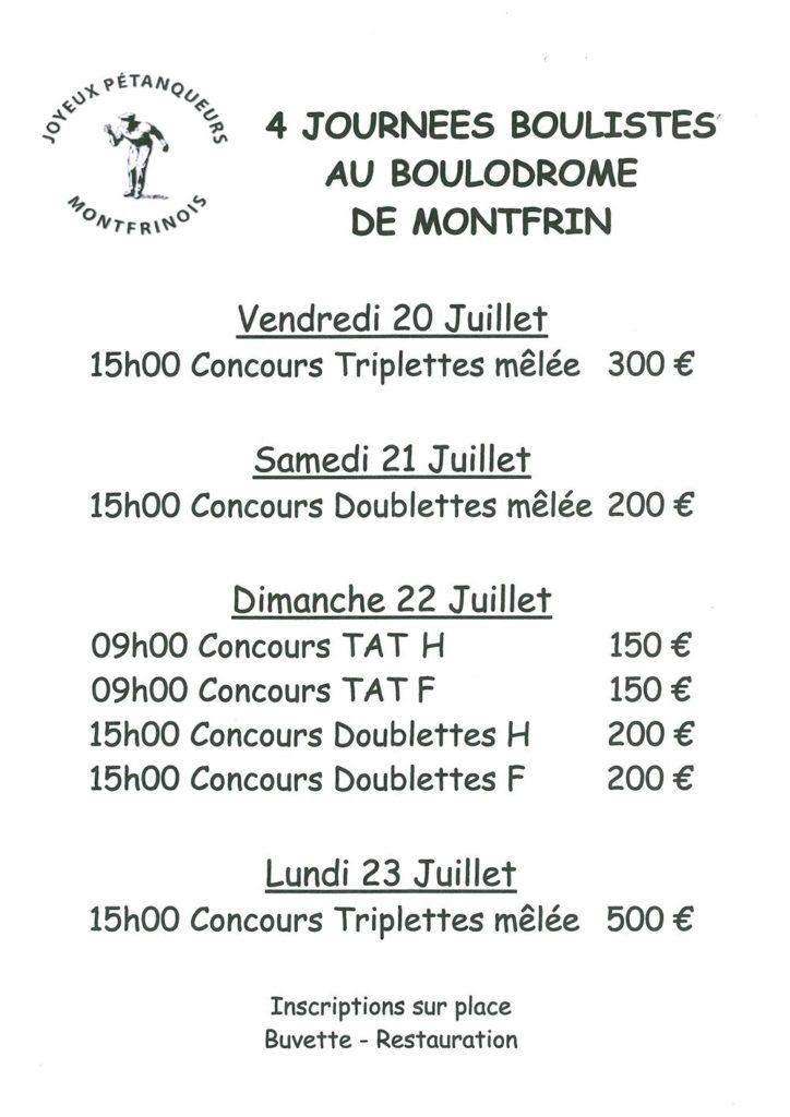 4 Journées Boulistes au Boulodrome de Montfrin