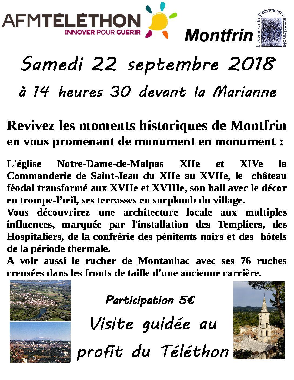 Visite Guidée du Village de Montfrin (Téléthon 2018)
