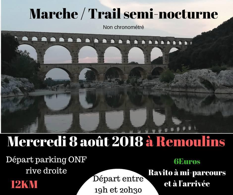 Marche / Trail semi-nocturne