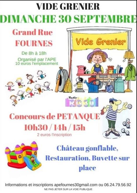 Vide Grenier et Concours de Pétanque