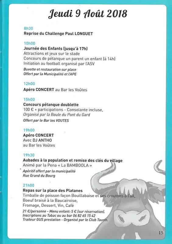 Calendrier Fete Votive 2021 Gard Fête Votive 2018 de Vers Pont du Gard   Radio RG30