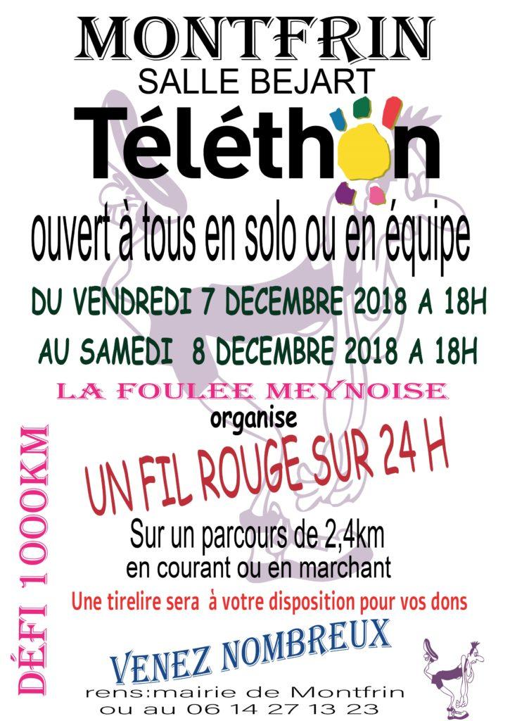 Fil Rouge Montfrin Téléthon 2018