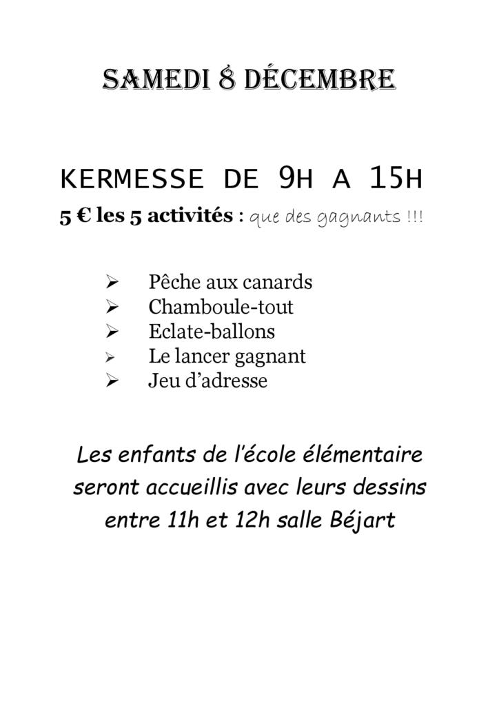Kermesse Montfrin Téléthon 2018