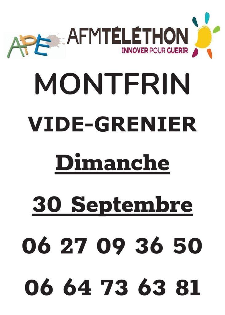 Vide grenier de l'APE de Montfrin (Téléthon 2018)