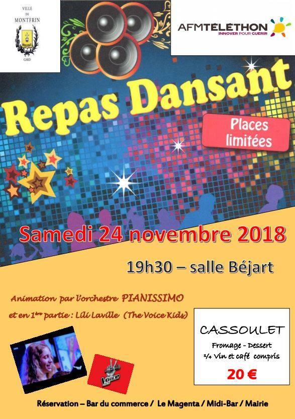 Soirée Repas Dansant (Téléthon 2018)