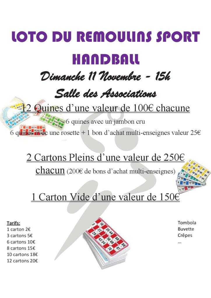 Loto du Remoulins Sport Handball