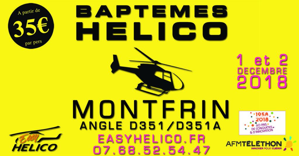 Baptême de l'air en hélicoptère  (Téléthon 2018)