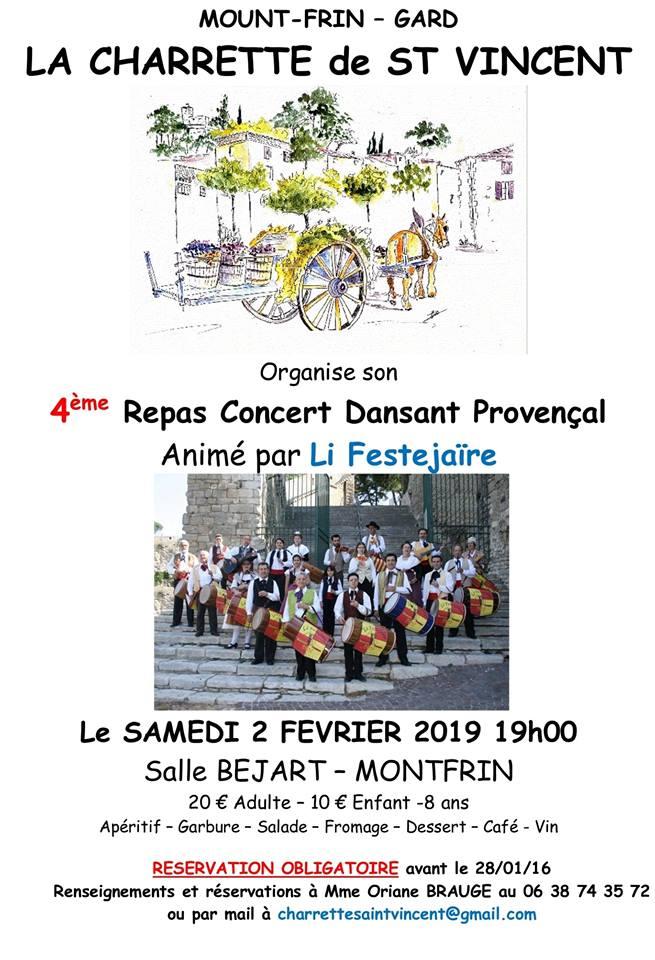 4ème Repas Concert Dansant Provençal