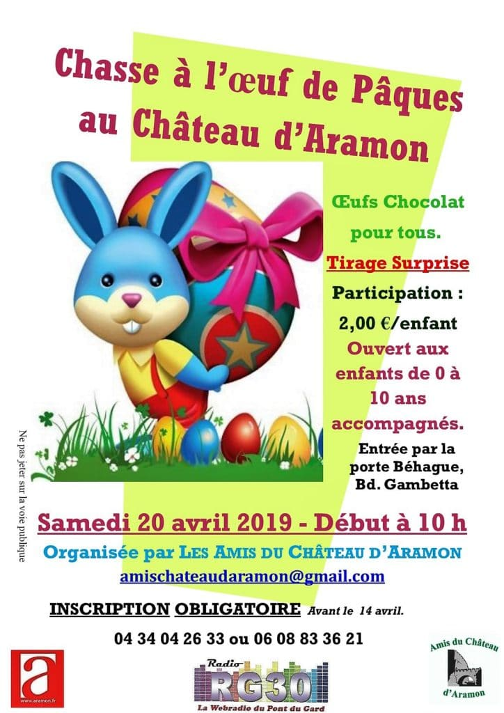 Chasse à l'oeuf de Pâques du Château d'Aramon