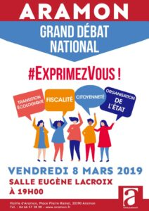 Grand Débat National Aramon le 08 Mars 2019