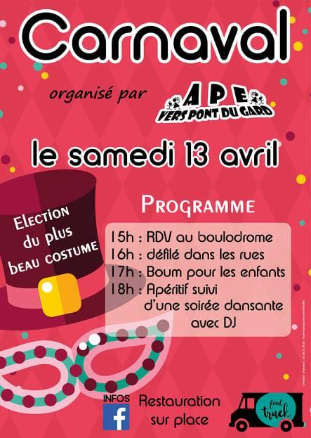 Carnaval de Vers Pont du Gard, le retour !!!