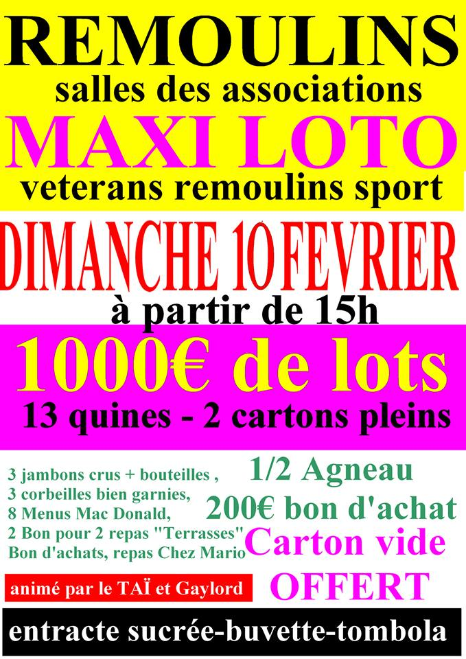 Loto des Associations Remoulins