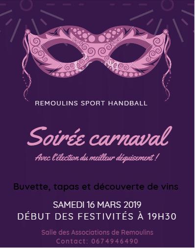 Soirée Carnaval du Remoulins Sport Handball
