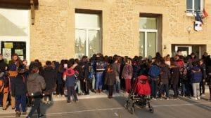 Suite à la décision de la Fermeture d'une classe de l'école de Fournès