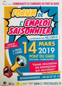 forum de l'emploi saisonnier 14 mars 2019