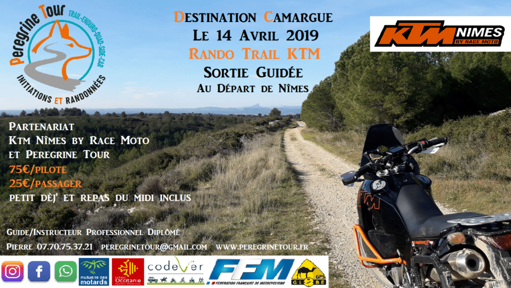 Sortie Moto trail KTM