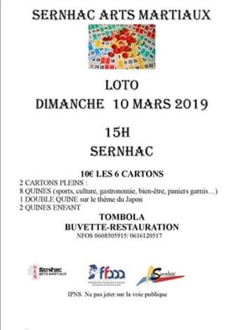 Loto Sernhac Arts Martiaux 2019