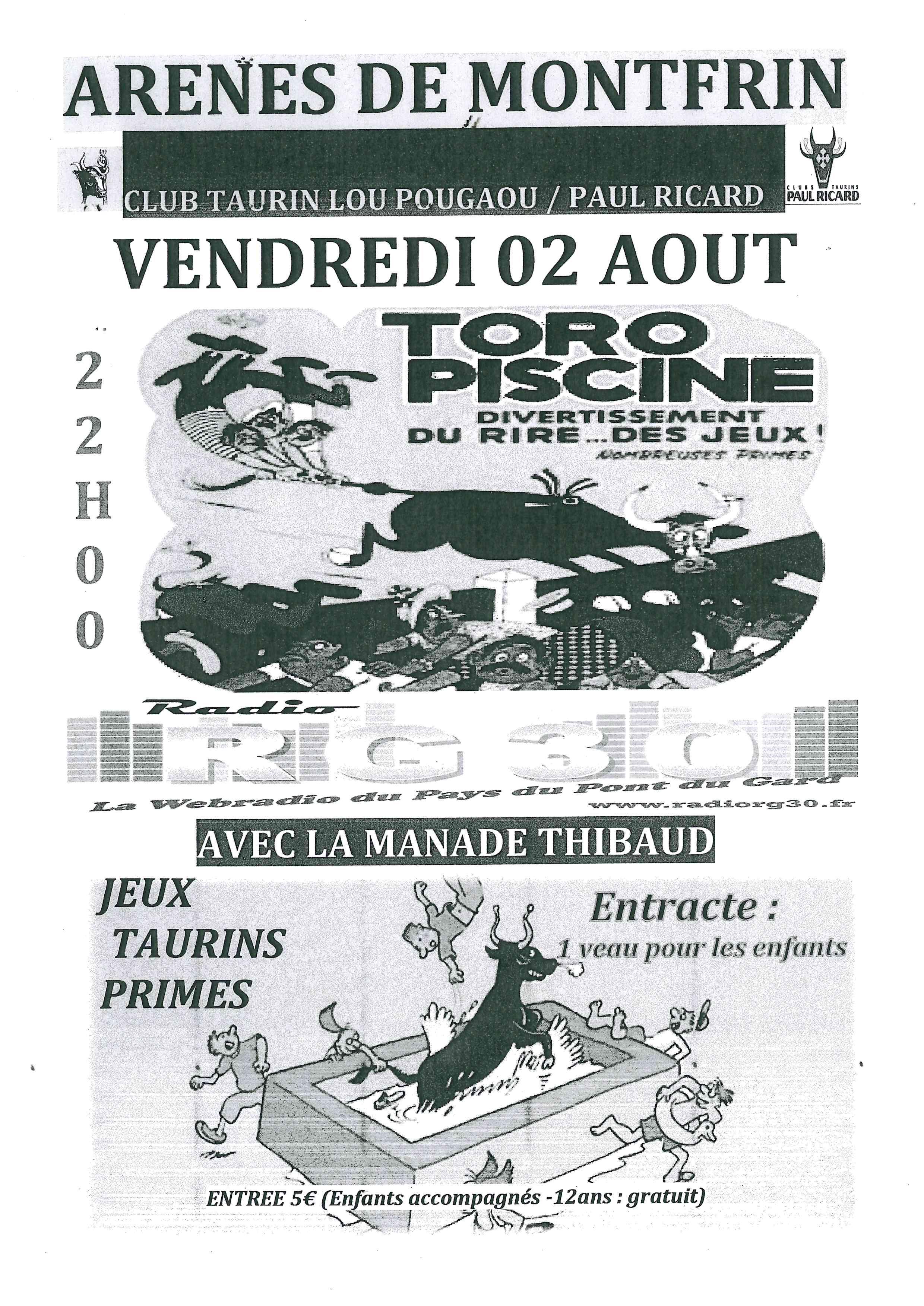 Taureaux Piscine 2019 Montfrin