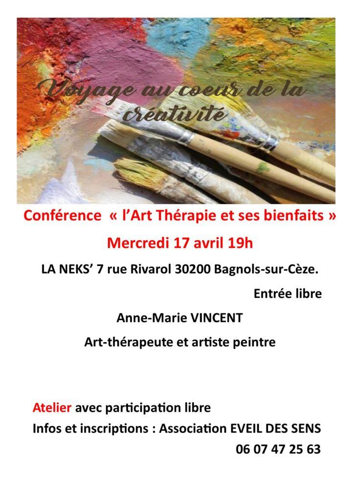 Conférence sur les bienfaits de l'art-thérapie