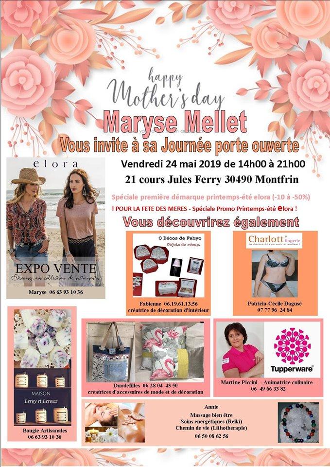 Porte-ouverte Spéciale fête des mères et 1ère démarque collection printemps-été Elora 2019