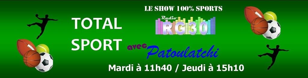 Total Sport avec Patoulatchi sur Radio RG30
