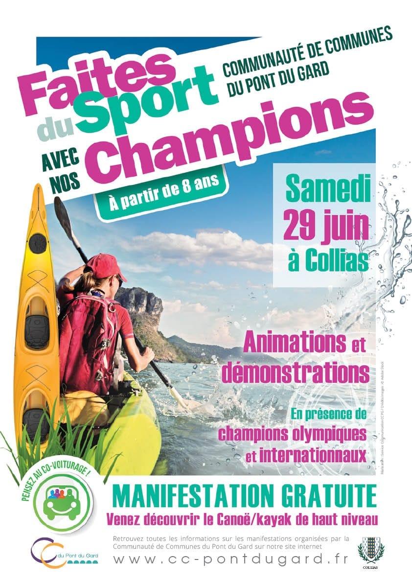 ANNULÉ - Faites du sport avec nos champions