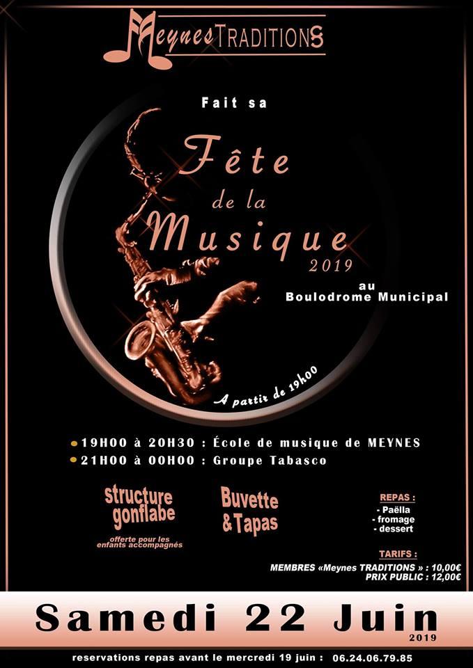 Fête de la Musique 2019 à Meynes