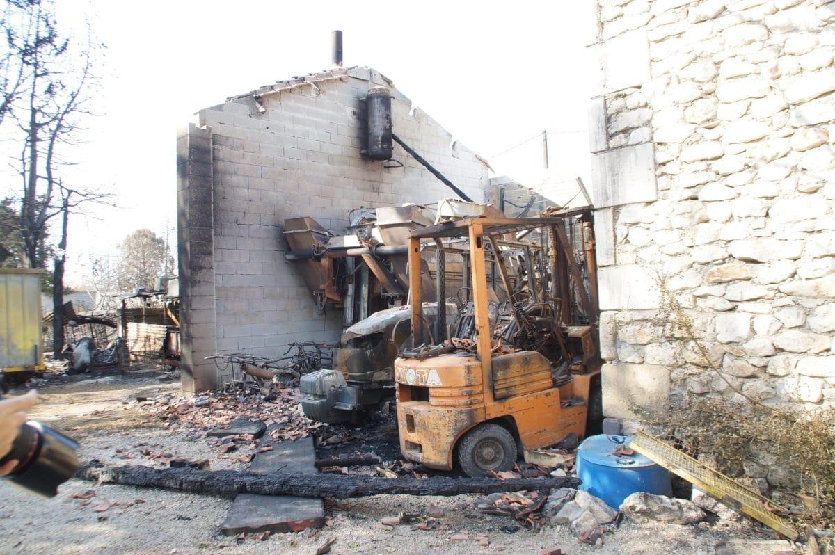 Exploitation Bonnard après l'incendie ©RD