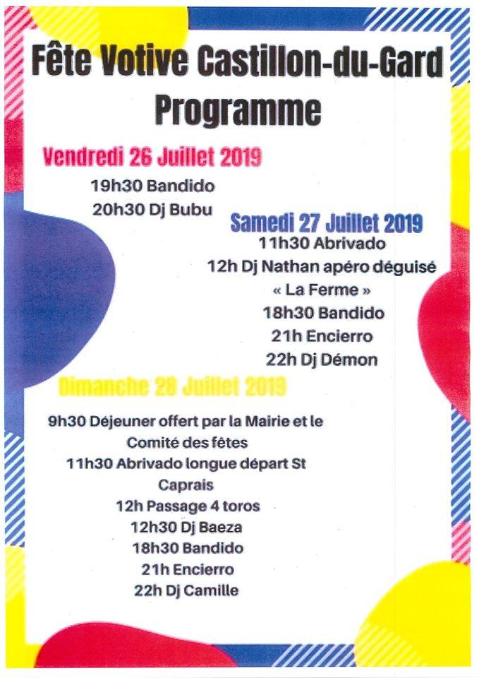 Fête Votive 2019 Castillon-du-Gard