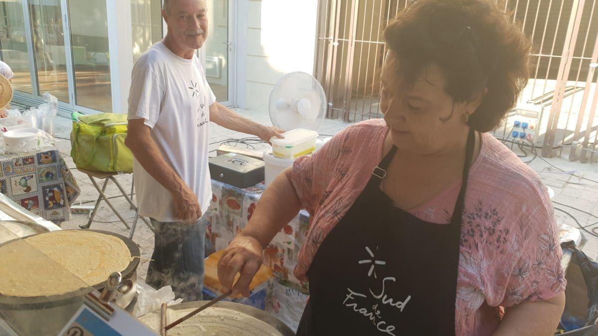 Nadia Vidal et ses crêpes à la farine de châtaigne ©Radio RG30