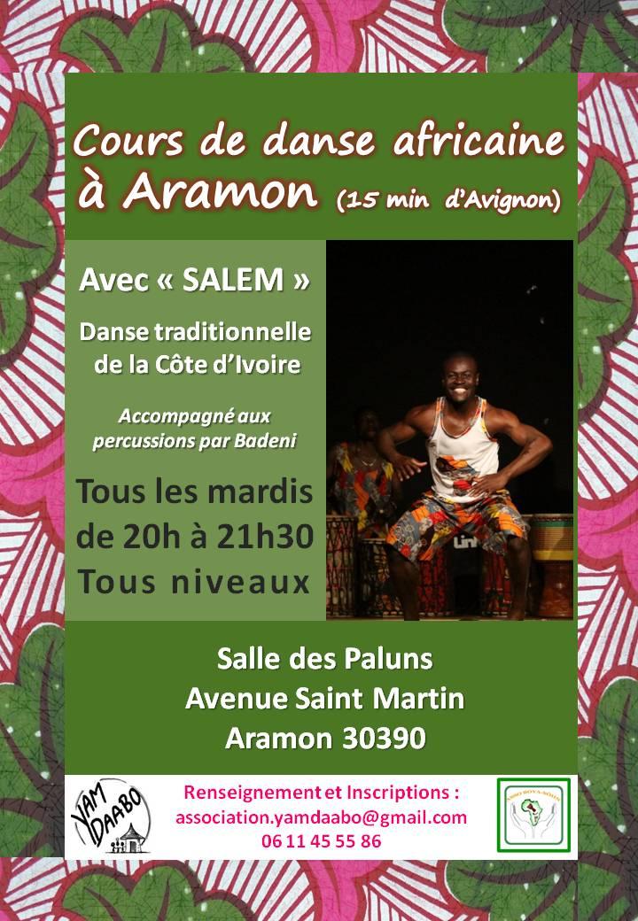 Cours de danse africaine à Aramon