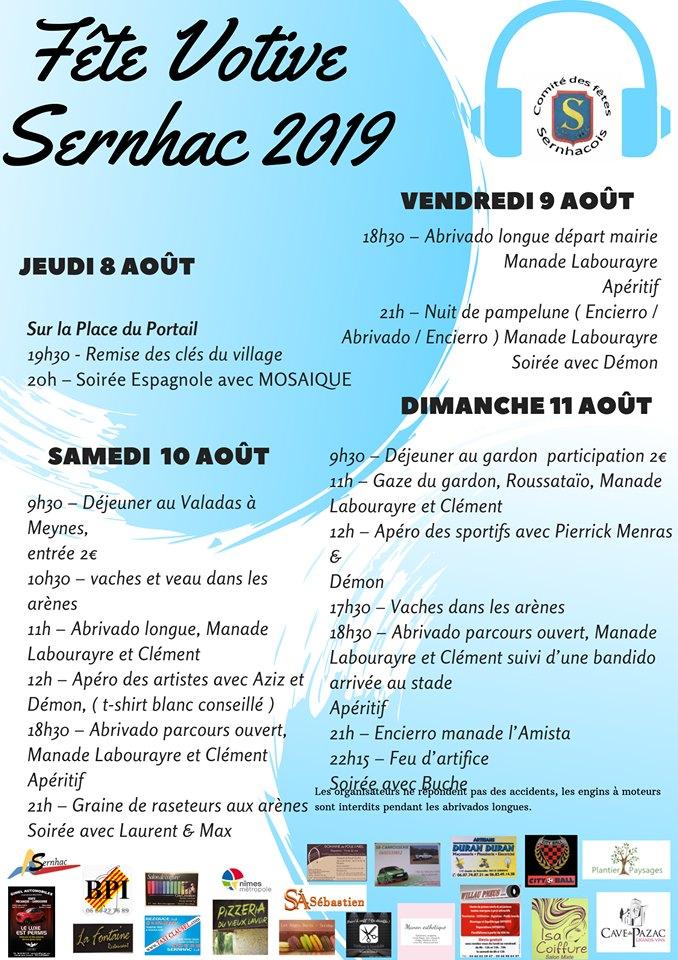 Fête Votive 2019 à Sernahc