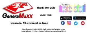 GeneraMaxx, les années 90 reviennent en force sur Radio RG30 avec Tom