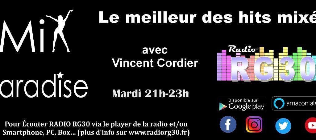Mix Paradise avec Vincent Cordier sur Radio RG30