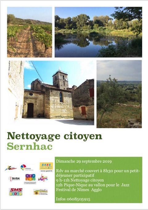 Nettoyage citoyen Sernhac 2019