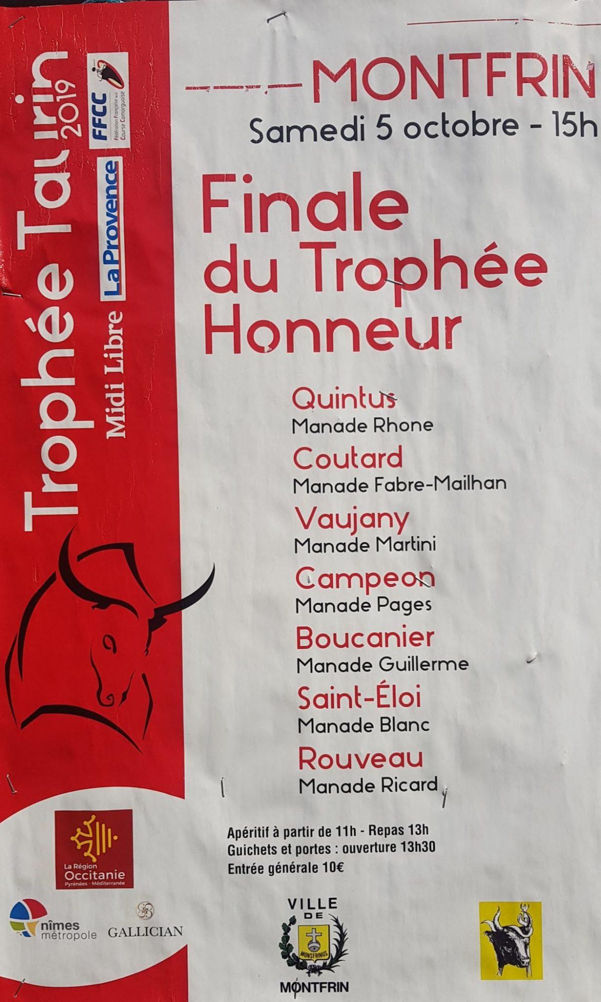 Finale du Trophée Honneur 2019