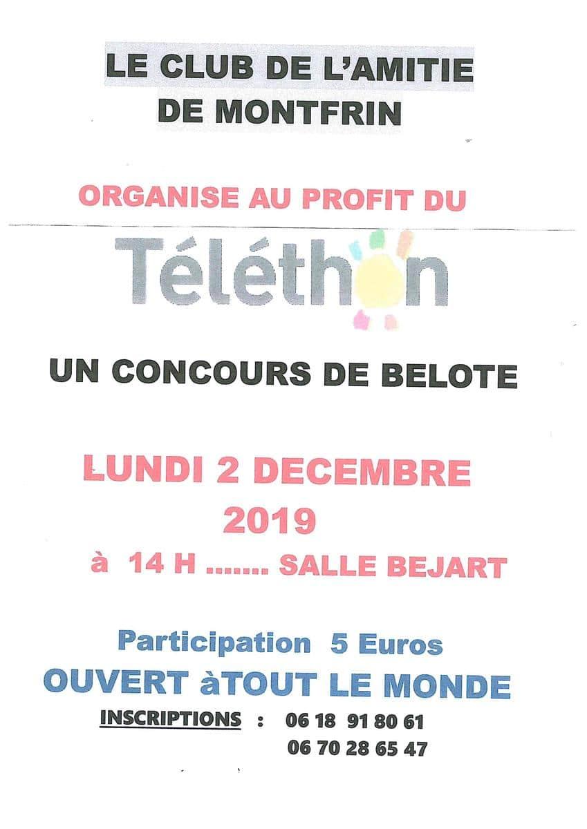 Concours de Belote 2019 Montfrin Téléthon
