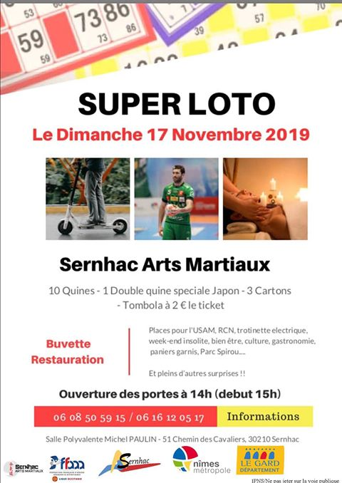 Super Loto Sernhac Arts Martiaux 2019