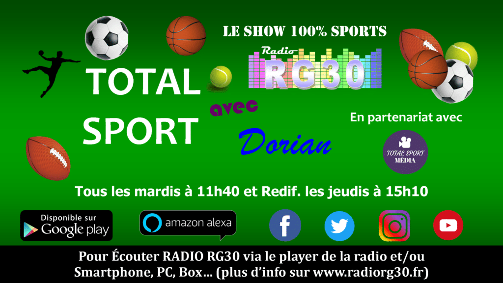 Promo Total Sport avec Dorian sur Radio RG30