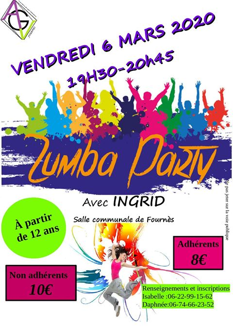 Zumba party avec Ingrid!!!