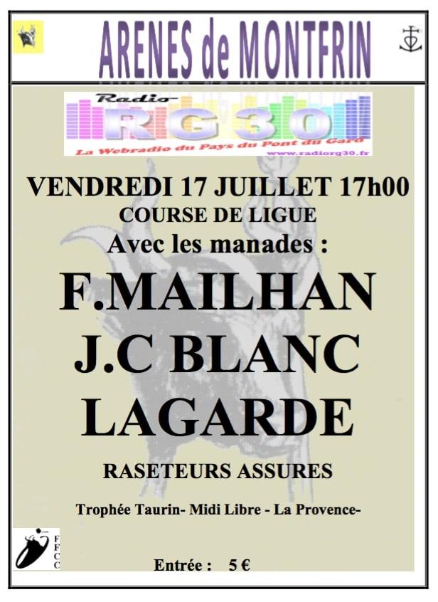 Course de ligue 2020 Montfrin