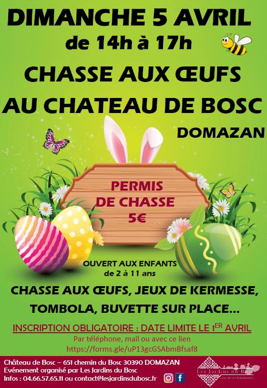 ANNULE - Chasse aux oeufs au Château de Bosc
