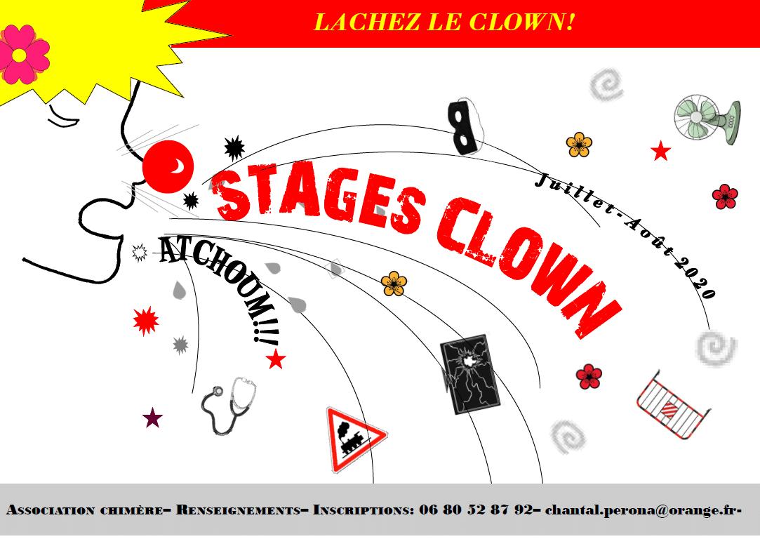 Stage clown du 03 au 08 août 2020
